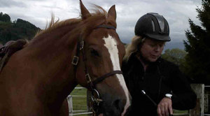 Horse rider Liliane Schley explains why she's glad that in an emergency she can rely on her Limmex emergency watch.