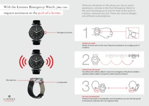 How the Limmex Emergency Watch works. Explained in three steps.